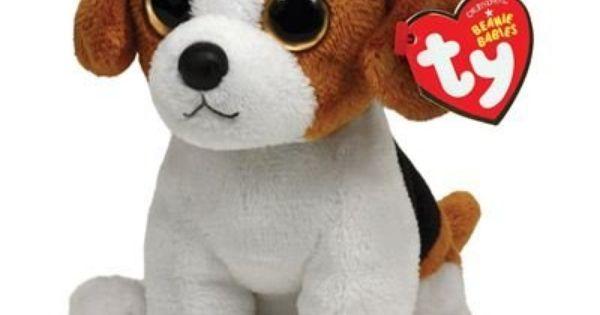 Ty Beanie Baby Banjo Plush Beagle Baby Beanie Big Eyed