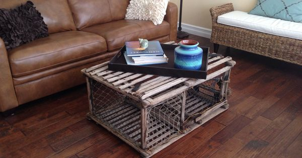 My Quirky Lobster Trap Coffee Table For The Home Pinterest Lobster Trap Coffee And