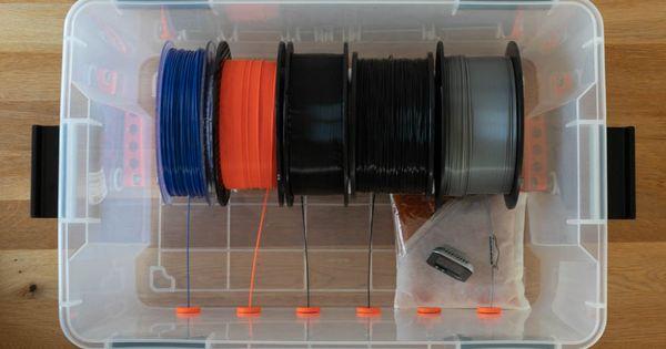 Fertige Box Inklusive Rollen Offen Von Oben Diy Filament Box Selber Bauen 3ddruck 3dprint 3dprinting Bauanleitung Box 3d Drucker Selber Bauen