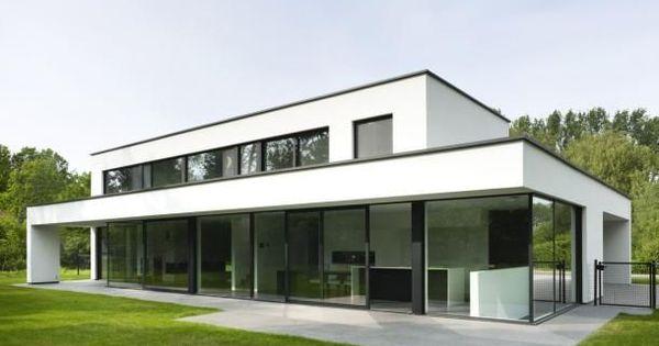 Pin van christel cnudde op verbouwingen pinterest huizen architectuur en moderne huizen for Afbeelding van moderne huizen