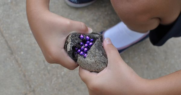 Treasure Rocks by thedomesticmama and thevillagecook: Made with leftover coffee grounds, salt,