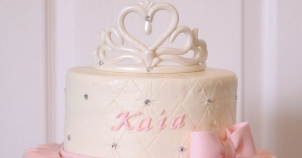 Tiara And Ruffles Baby Shower Cake Decorated Cakes And