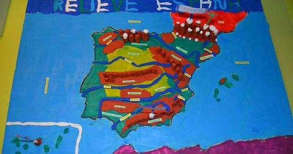 Maqueta relieve espa a proyectos extracurriculares cole - Trabajo de jardinero en madrid ...