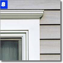 Rosenello S Windows Siding Roofing Siding Window Trim Exterior Outdoor Window Trim Vinyl Window Trim
