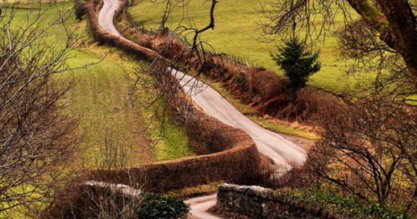 Winding Road, Wales-Looks like the road to Merryton in P & P!!