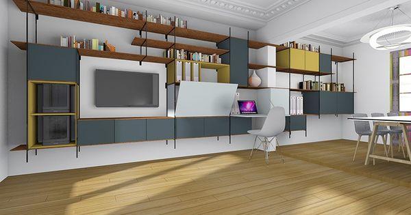 Changer Cr Er Des Rangements Et Un Bureau Dans Un Salon Salle Manger Inspirations Nouvelle