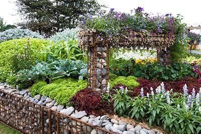 Landscape Design Slope Drainage With Gabion Garden Design Ideas Nurseriesonline Co Uk Garden Design Flower Bed Designs Landscape Design