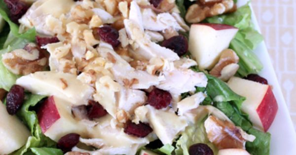 Cranberry Apple Chicken Salad w/ Honey Mustard Dressing | Recipe