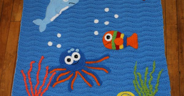Crocheted Under The Sea Blanket Under The By