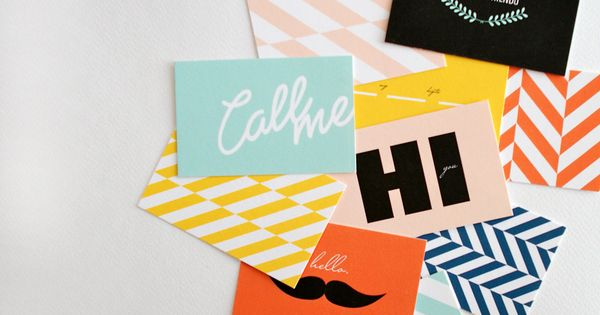 Honey & Bloom Calling Cards // Call me, maybe? Party Stuffs Party