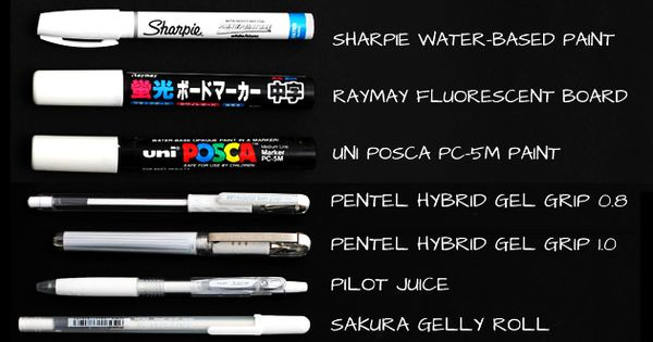 The ultimate white ink pen and marker showdown.