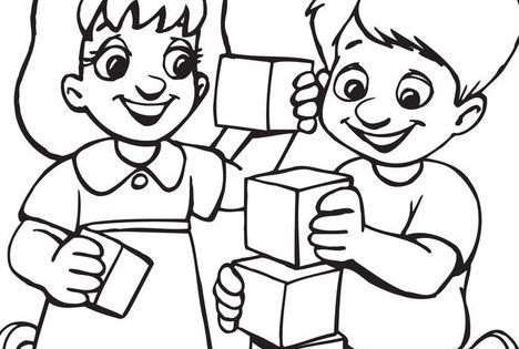 preschool coloring pages friends - photo#9