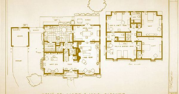 Leave It To Beaver Sitcom Floor Plan Of Their House
