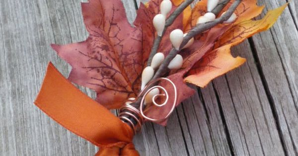 Fall Boutonniere Maple & Twigs