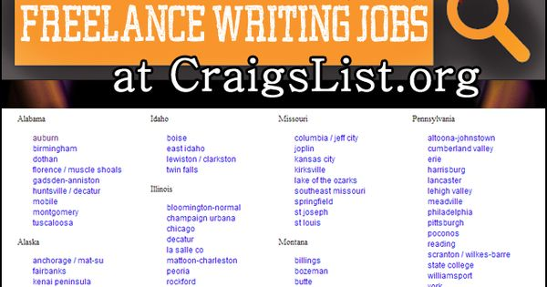 Find Local Freelance Writing Jobs At Craigslist Org Writing Jobs Freelance Writing Jobs Freelance Writing
