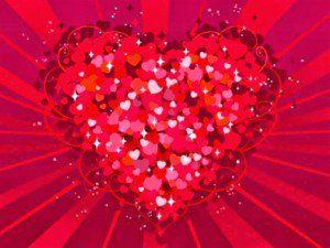 Corazon Grande Hecho De Muchos Corazoncillos Corazones Corazones Fondos De Pantalla Feliz Dia De San Valentin
