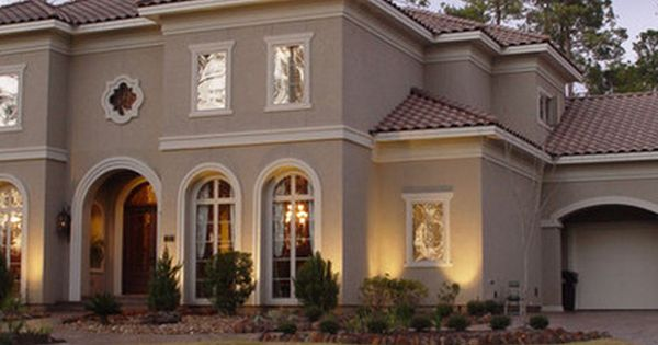Mediterranean colors for house houston home exterior for White stucco mediterranean house