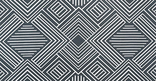 Near black outdoor fabric in cool art deco style by the for Fabric by the yard near me