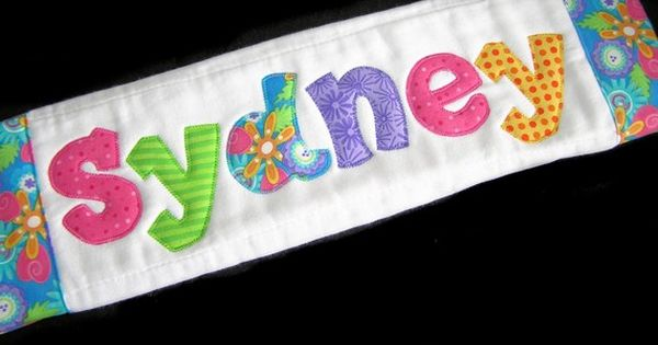 Personalized Baby Burp Cloth - Appliqued - Shades of Summer