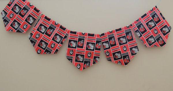 Uga Bulldogs Fly Your Banner Fabric Banner Quilting Studio Uga Bulldogs