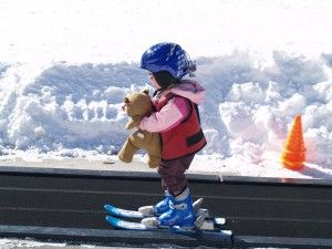 Seven Tips For Skiing With Young Kids Baby Skiing Skiing Outfit Kids Skis