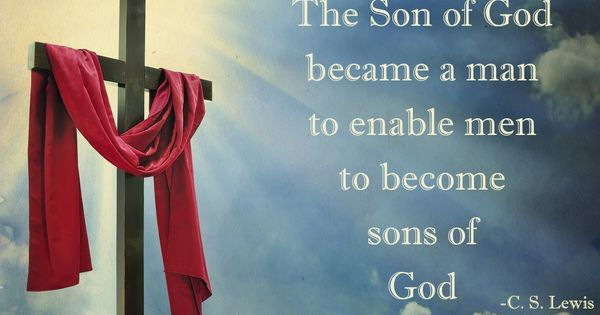 """The Son of God became a man to enable men to become"