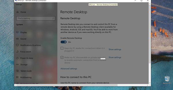 Windows 10 Remote Desktop In Windows Home Windows 10 Windows Remote