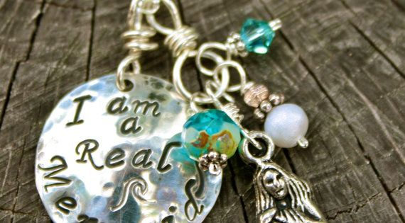 I Am A Real Mermaid Necklace Hand Stamped Sterling