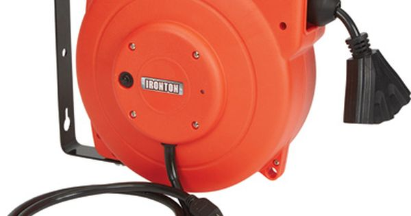 Ironton Retractable Extension Cord Reel 40ft 12 3 Triple Tap Retractable Cord Extension Cord Reels Extension Cord