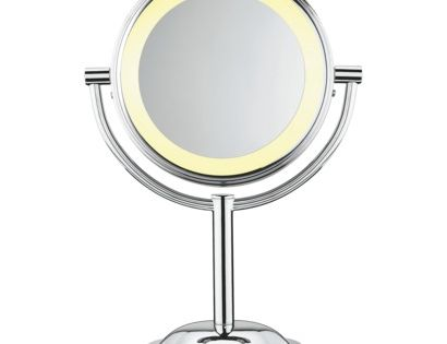conair double sided lighted makeup mirror with 5x magnification hate schoo. Black Bedroom Furniture Sets. Home Design Ideas