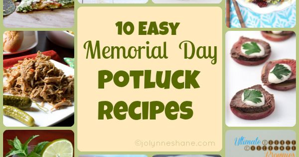 memorial day potluck menu
