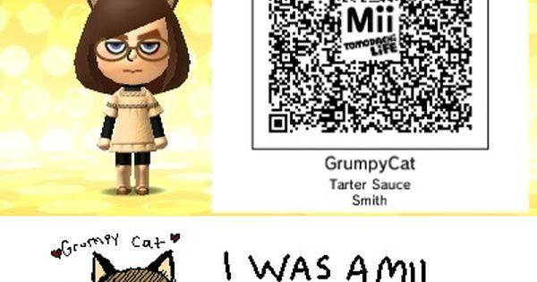 Dantdm Qr Code Mii List: Grumpy Cat Tomodachi Life Mii Qr Code