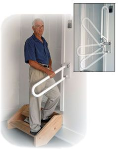 Healthcraft Transfer And Mobility Assistance For Independent   Handicap Handrails For Stairs   Grab Bars   Deck Railing   Stainless Steel   Ada Compliant   Wheelchair Ramp