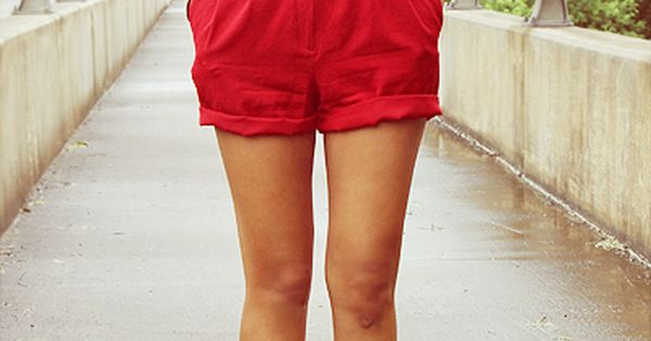 red shorts with leopard