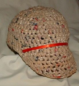 Recycled Plastic Baseball Cap My Recycled Bags Com Plastic Bag Crochet Crochet Plastic Crochet Hats