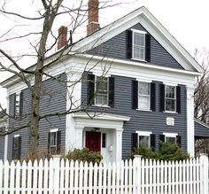 Image Result For Gray Vinyl Siding Colonial Blue Shutters White Stone House Paint Exterior Gray House Exterior House Exterior Blue