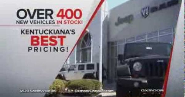 Wave Twc Wdrb Commercial Over 400 Vehicles In Stock Oxmoor Chrysler Jeep Dodge Louisville