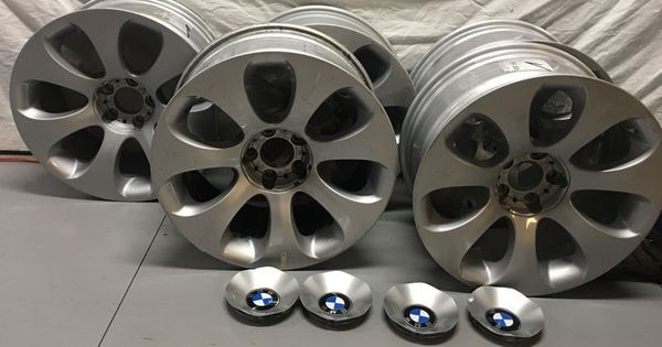 Item 5 Set Of 5 Bmw Aluminum Silver Painted Tire Rims Made In Germany Austria Please Refer To Picture Painted Tires Silver Paint Wooden Rocking Horse