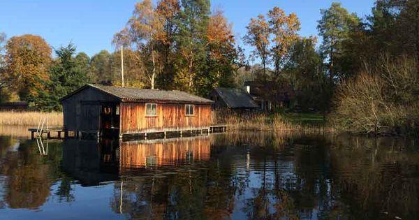 Komfort Ferienhaus Am Zootzensee Inkl 4 000 Qm Seegrundstuck 2 Ps Angelkahn Sauna Ferienhaus Ferien Bootshaus