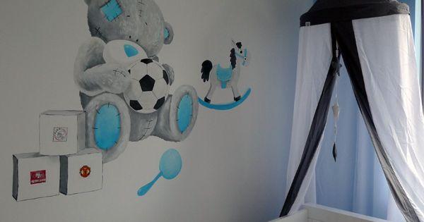 Me2you muurschildering babykamer jongen muurschildering babykamer pinterest babies - Deco kamer bebe blauw ...