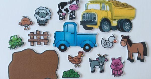 Blue Truck Felt Board Story Felt Stories Speech Therapy Etsy Felt Board Stories Little Blue Trucks Farm Theme Preschool