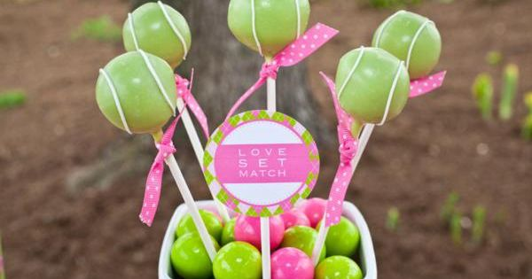Tennis party cake pops!!!!
