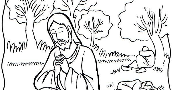 Garden of Gethsemane coloring page