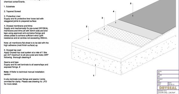 Flat Concrete Roof Construction Details Detail Drawings