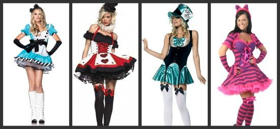 Costume Ideas For Groups Of 4 Three S A Crowd Four S A Party Halloween Costumes Women Wonderland Costumes Alice In Wonderland Costume