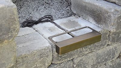 How To Install Volt Undercover Hardscape Lights Retaining Wall