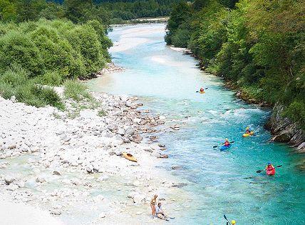 Bovec, Soča River, Slovenia