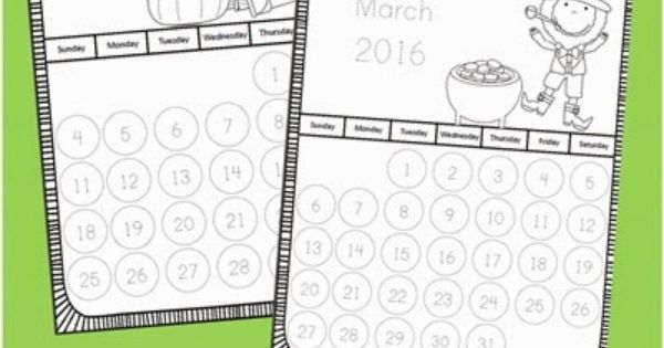 Calendar Trace Kindergarten : Trace the numbers calendar this is such a fun free