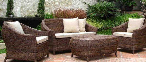 genial polyrattan lounge gartenmöbel | deutsche deko | pinterest, Gartenmöbel