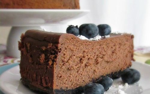 Double chocolate cheesecake, Chocolate cheesecake and Cheesecake on ...